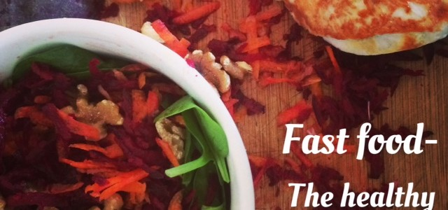 Fast food – chicken and beetroot salad