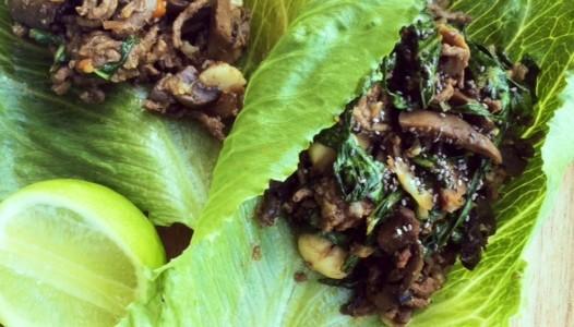 Beef and Mushroom San Choy Bow